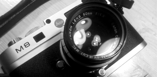 Canon LTM 50mm f1.8 lens (shot with smartphone).