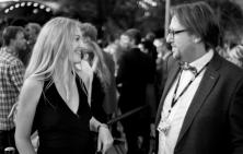 Anne-Grethe Bjarup Riis with Journalist Martin Mulvad.