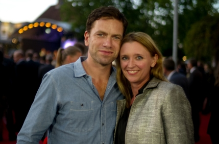 Actor Nicolai Lie Kaas with Journalist Signe Ryge Petersen