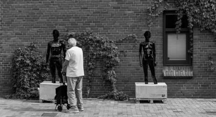 Skulpturer i Nørregade.