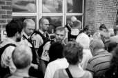 Jyllandspostens tidl. kulturredaktør Flemming Rose, var pga, Muhammedtegningerne årsag til et massivt og svært bevæbnet politiopbud, da han skulle deltage i debatmøde på Kulturmødet.