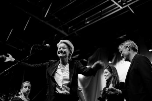 Vinder af prisen for bedste kvindelige skuepiller ved SVEND filmfestival 2016, Trine Dyrholm. / Trine Dyrholm, winner of the best female actor awards at the SVEND filmfestival in Denmark, 2016.